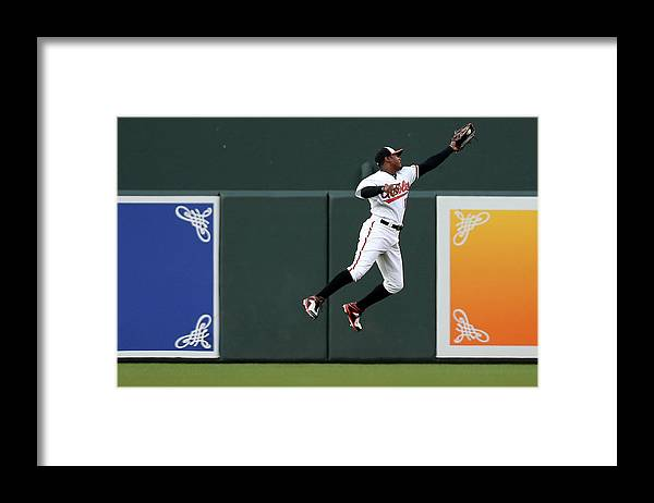 Second Inning Framed Print featuring the photograph Adam Jones by Patrick Smith