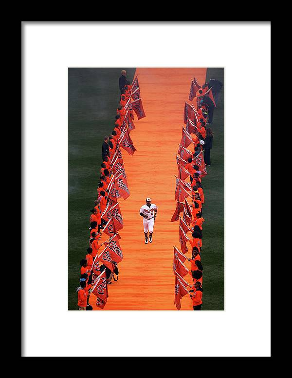 Adam Jones - Baseball Player Framed Print featuring the photograph Adam Jones by Rob Carr