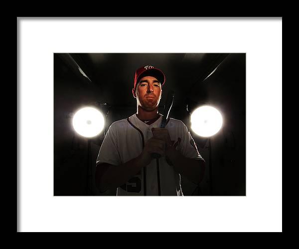 Media Day Framed Print featuring the photograph Adam Laroche by Al Bello