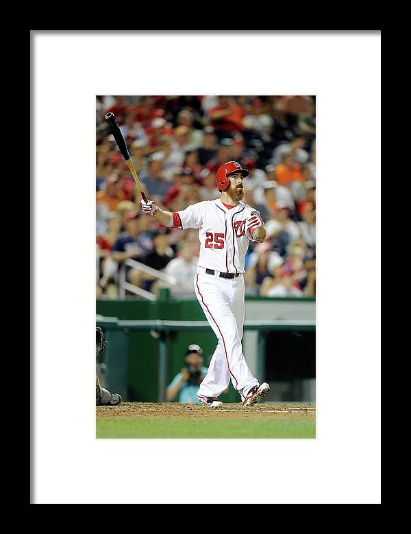 Adam Laroche Framed Print featuring the photograph Adam Laroche by Greg Fiume