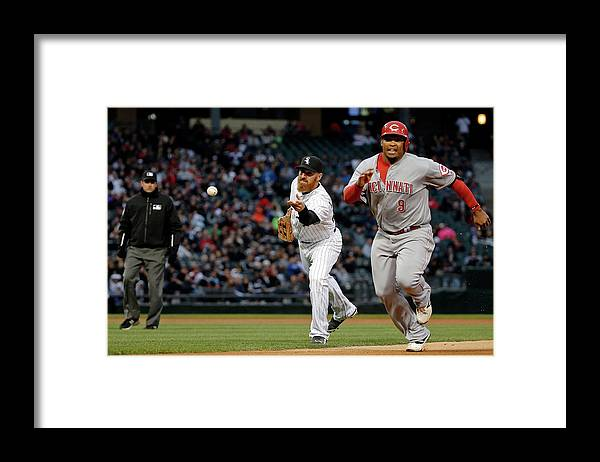 Adam Laroche Framed Print featuring the photograph Adam Laroche, Marlon Byrd, and Emilio Bonifacio by Jon Durr