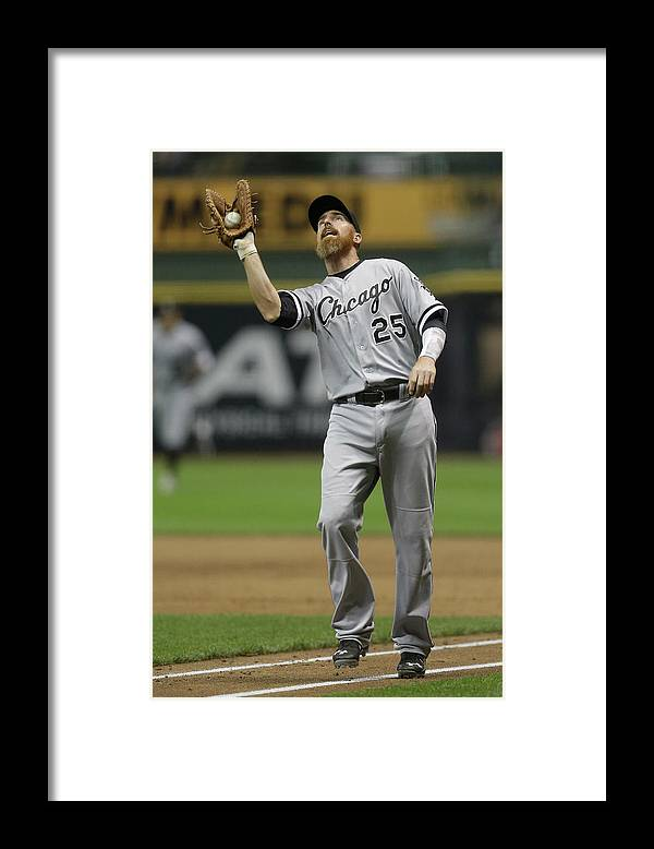 Adam Laroche Framed Print featuring the photograph Adam Laroche by Mike Mcginnis