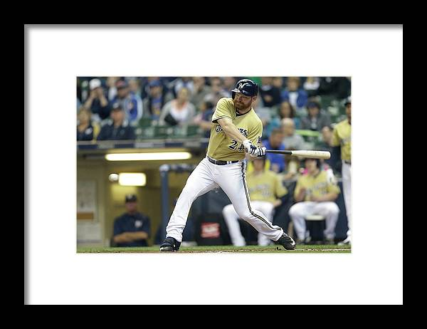 Second Inning Framed Print featuring the photograph Adam Lind by Mike Mcginnis