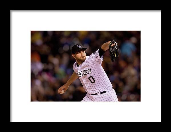 Relief Pitcher Framed Print featuring the photograph Adam Ottavino by Justin Edmonds