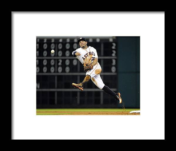 People Framed Print featuring the photograph Adam Rosales by Eric Christian Smith