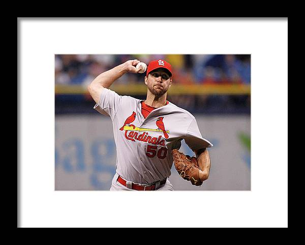 St. Louis Cardinals Framed Print featuring the photograph Adam Wainwright by Brian Blanco