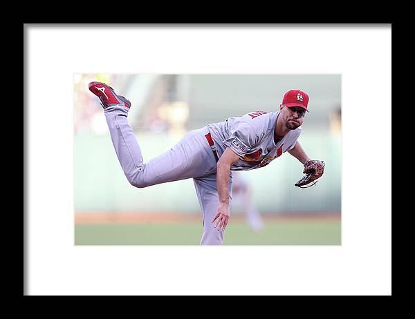 St. Louis Cardinals Framed Print featuring the photograph Adam Wainwright by Christian Petersen