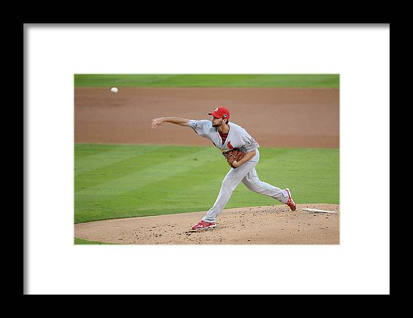 St. Louis Cardinals Framed Print featuring the photograph Adam Wainwright by Harry How