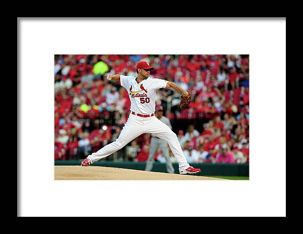 St. Louis Cardinals Framed Print featuring the photograph Adam Wainwright by Jeff Curry