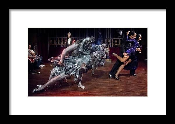 Adams Family Framed Print featuring the photograph Adams Family Dance by Alan D Smith