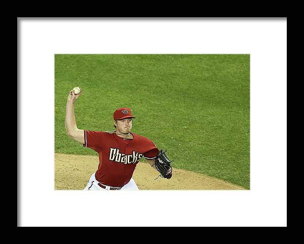 Relief Pitcher Framed Print featuring the photograph Addison Reed by Christian Petersen