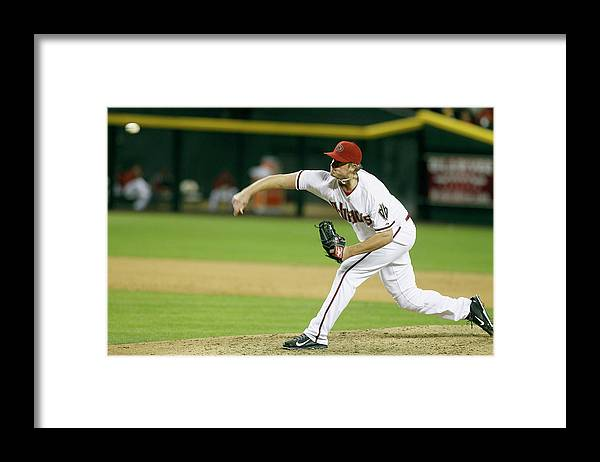 Ninth Inning Framed Print featuring the photograph Addison Reed by Ralph Freso