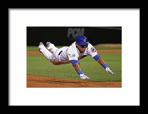 People Framed Print featuring the photograph Addison Russell by Jonathan Daniel