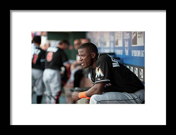 Citizens Bank Park Framed Print featuring the photograph Adeiny Hechavarria by Rob Tringali
