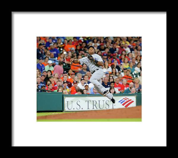 Adrian Beltre Framed Print featuring the photograph Adrian Beltre and Carlos Correa by Bob Levey