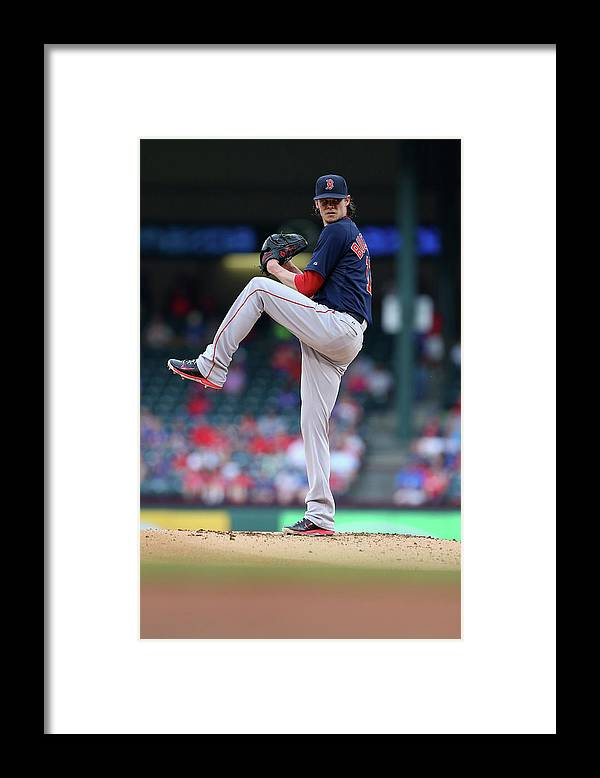 Adrian Beltre Framed Print featuring the photograph Adrian Beltre and Clay Buchholz by Ronald Martinez