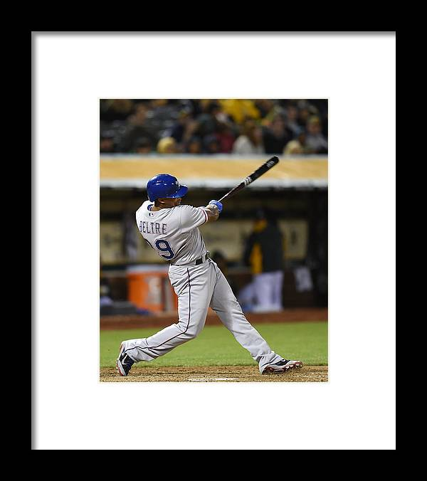 Adrian Beltre Framed Print featuring the photograph Adrian Beltre and Elvis Andrus by Thearon W. Henderson