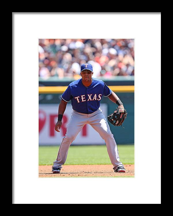 Adrian Beltre Framed Print featuring the photograph Adrian Beltre by Leon Halip