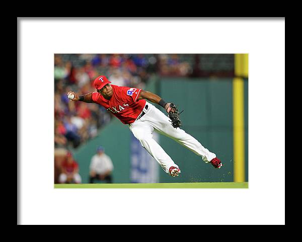 Adrian Beltre Framed Print featuring the photograph Adrian Beltre by Rick Yeatts