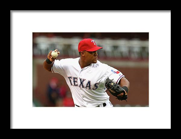 Adrian Beltre Framed Print featuring the photograph Adrian Beltre by Ronald Martinez