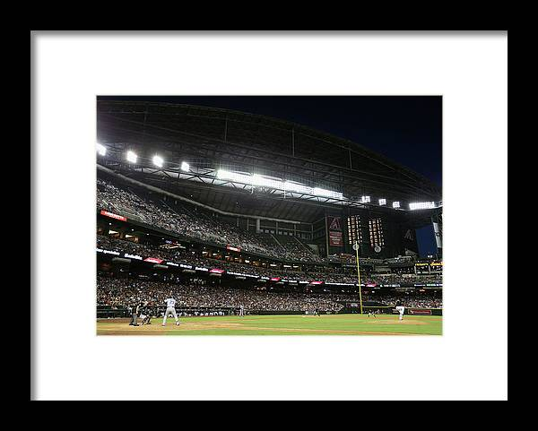 Relief Pitcher Framed Print featuring the photograph Adrian Gonzalez by Christian Petersen