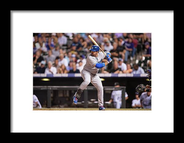 Los Angeles Dodgers Framed Print featuring the photograph Adrian Gonzalez by Dustin Bradford