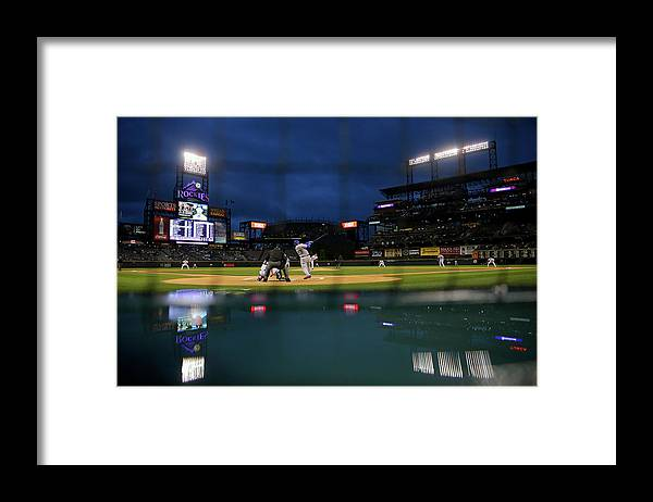 People Framed Print featuring the photograph Adrian Gonzalez by Justin Edmonds