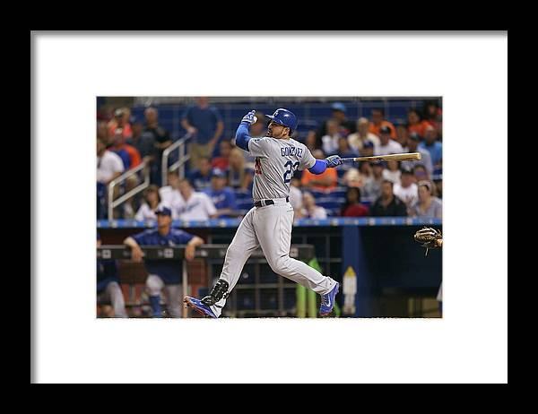 People Framed Print featuring the photograph Adrian Gonzalez by Rob Foldy