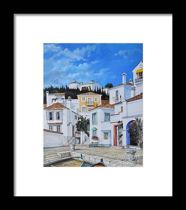 City Framed Print featuring the painting Afternoon Light In Montenegro by Sinisa Saratlic
