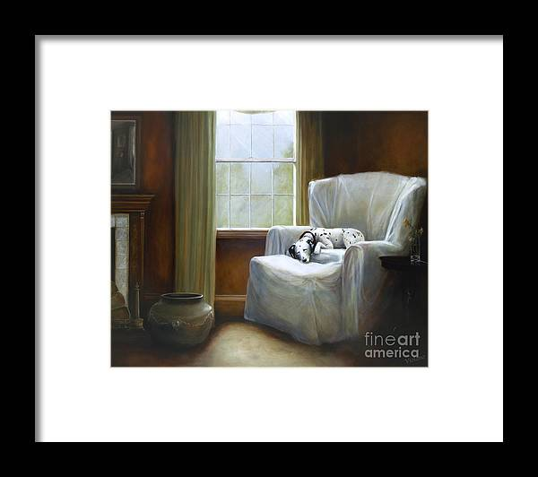 Violano Framed Print featuring the painting Afternoon Nap by Stella Violano
