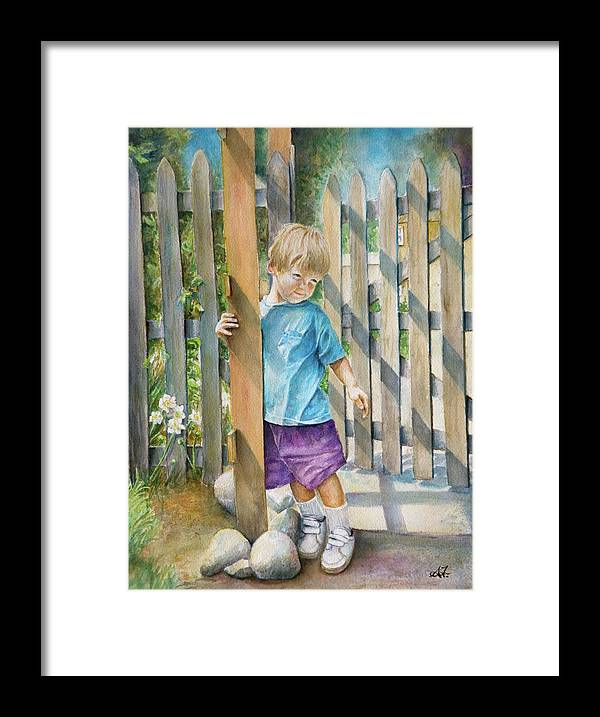 Portrait Framed Print featuring the painting Age Of Innocence by Arthur Fix