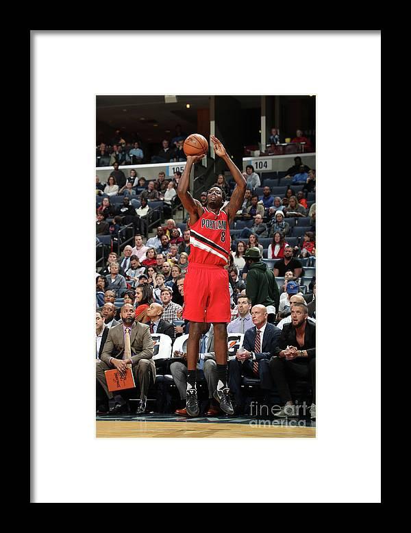 Nba Pro Basketball Framed Print featuring the photograph Al-farouq Aminu by Joe Murphy