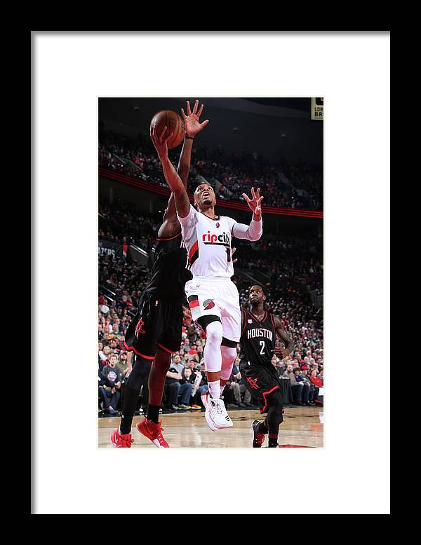 Nba Pro Basketball Framed Print featuring the photograph Al-farouq Aminu by Sam Forencich