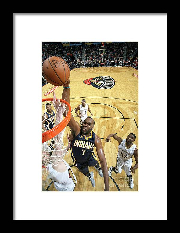Smoothie King Center Framed Print featuring the photograph Al Jefferson by Layne Murdoch