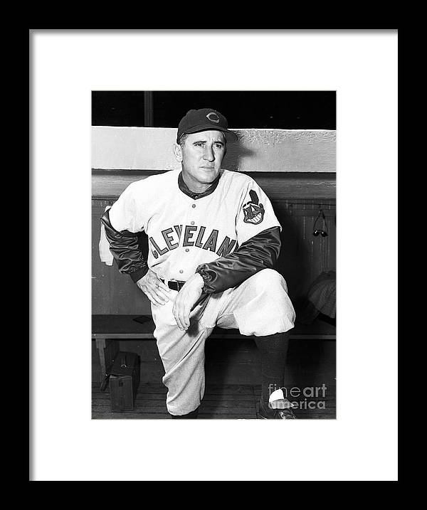 American League Baseball Framed Print featuring the photograph Al Lopez by Kidwiler Collection