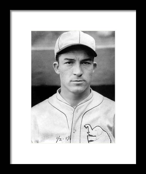 American League Baseball Framed Print featuring the photograph Al Simmons by National Baseball Hall Of Fame Library