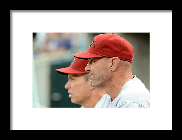 American League Baseball Framed Print featuring the photograph Alan Trammell and Kirk Gibson by Mark Cunningham