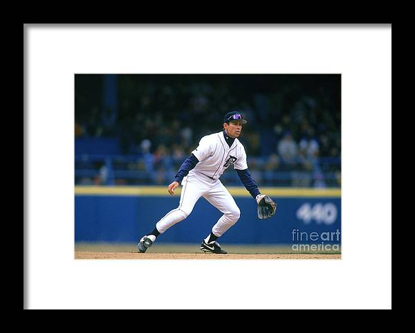 Sports Ball Framed Print featuring the photograph Alan Trammell by John Reid Iii