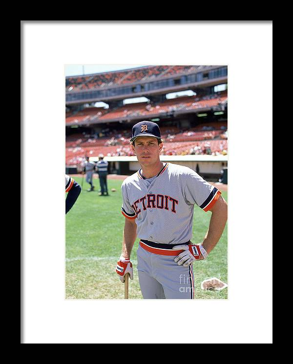 1980-1989 Framed Print featuring the photograph Alan Trammell by Michael Zagaris