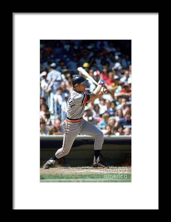1980-1989 Framed Print featuring the photograph Alan Trammell by Rich Pilling