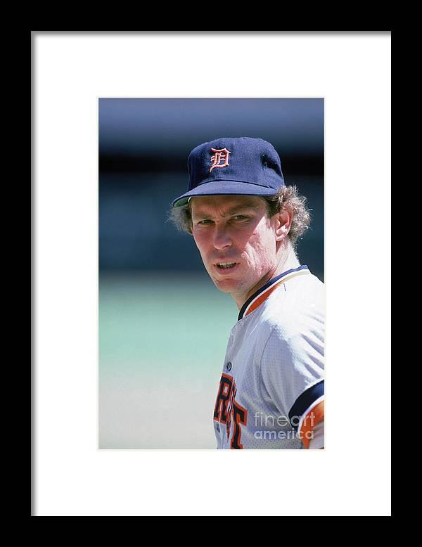 1980-1989 Framed Print featuring the photograph Alan Trammell by Rick Stewart