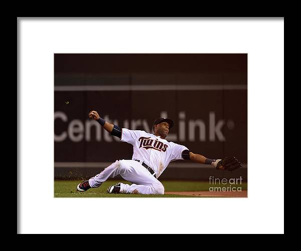 People Framed Print featuring the photograph Albert Pujols and Torii Hunter by Hannah Foslien