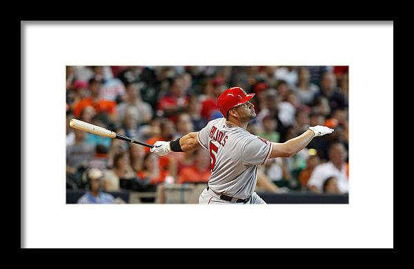 American League Baseball Framed Print featuring the photograph Albert Pujols by Bob Levey