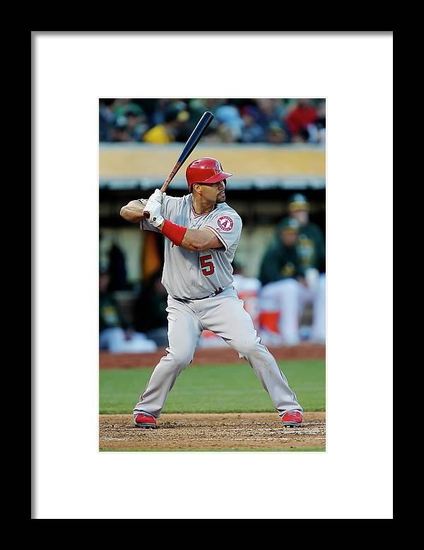 People Framed Print featuring the photograph Albert Pujols by Brian Bahr