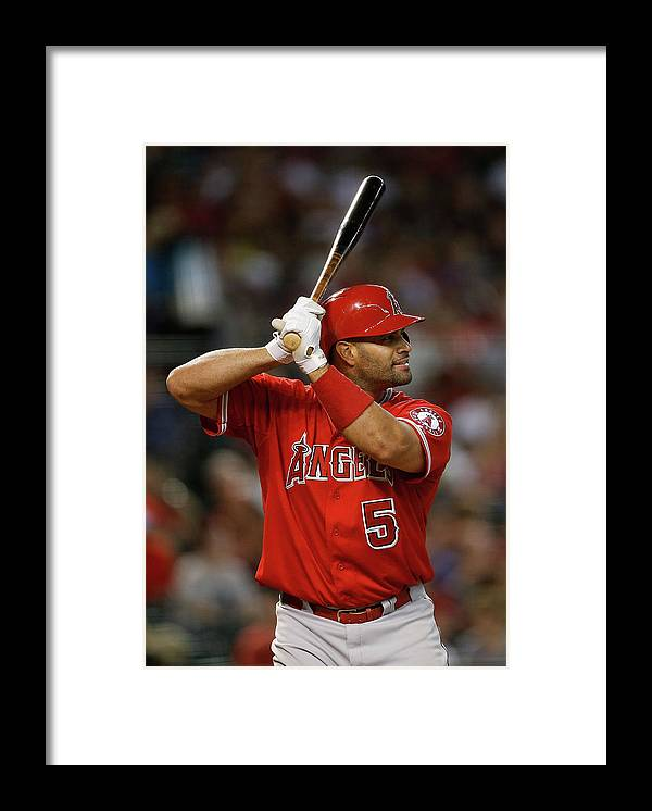 People Framed Print featuring the photograph Albert Pujols by Christian Petersen