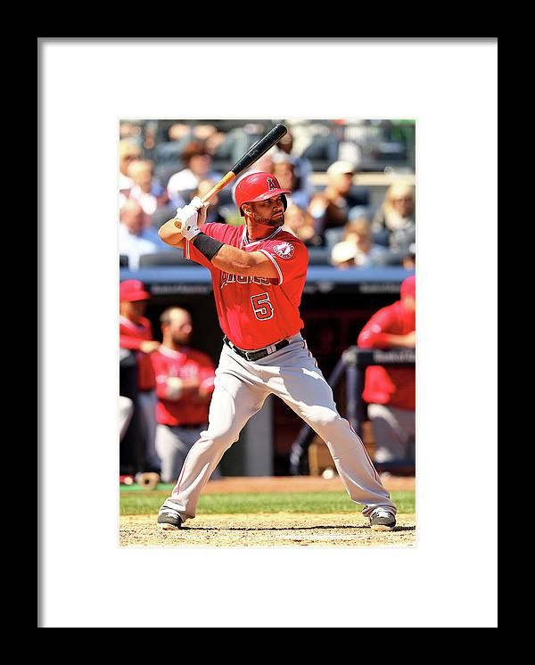 American League Baseball Framed Print featuring the photograph Albert Pujols by Elsa