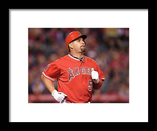 People Framed Print featuring the photograph Albert Pujols by Harry How