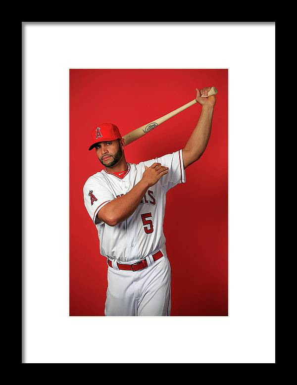 Media Day Framed Print featuring the photograph Albert Pujols by Jamie Squire