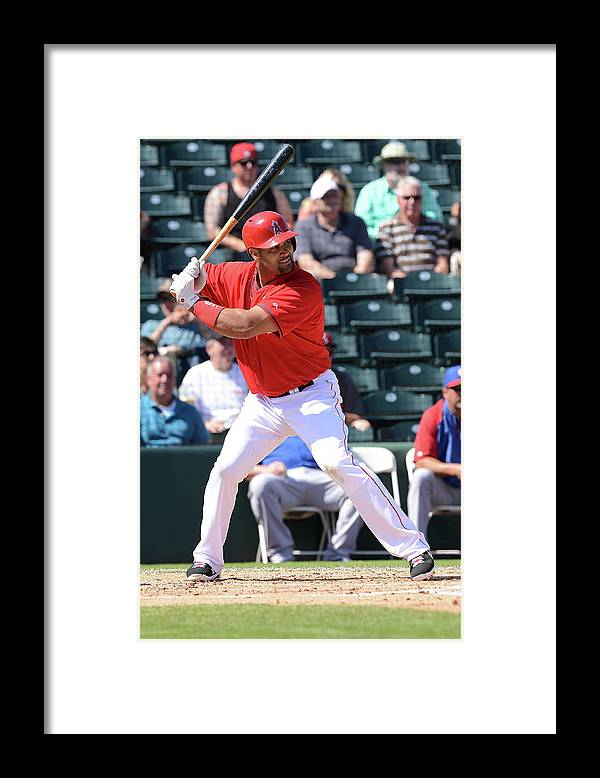 Tempe Diablo Stadium Framed Print featuring the photograph Albert Pujols by Norm Hall