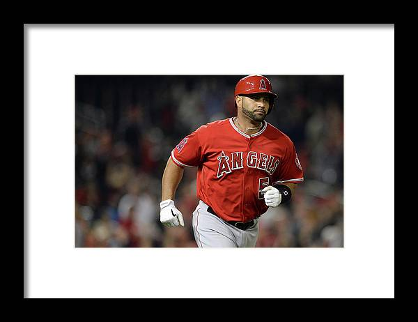 American League Baseball Framed Print featuring the photograph Albert Pujols by Patrick Smith